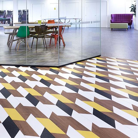 Luxury Vinyl Tiles brighten up Space 48 office space