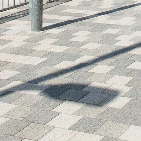 Stylish paving for central supermarket chain hub