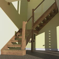 Staircase design renders delivered to client