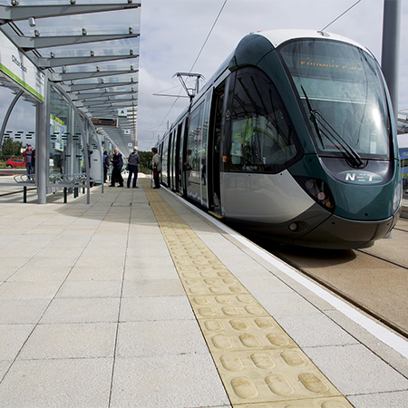 Ultrapave gives natural granite aesthetic for tram extension