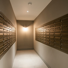 High-end mailboxes for a high-end development in Canary Wharf, London