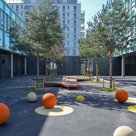 Premium timber adds style to outdoor playground