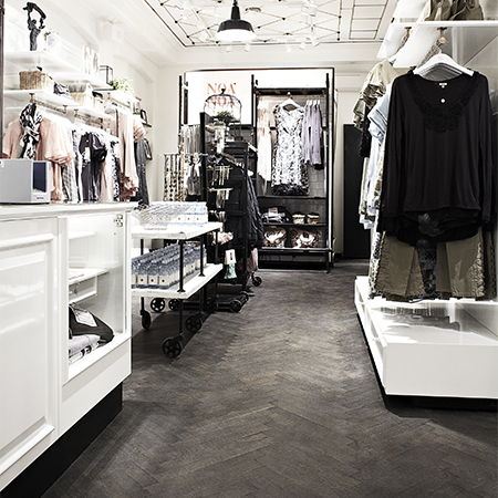 Junckers flooring adds style to fashion store in Copenhagen