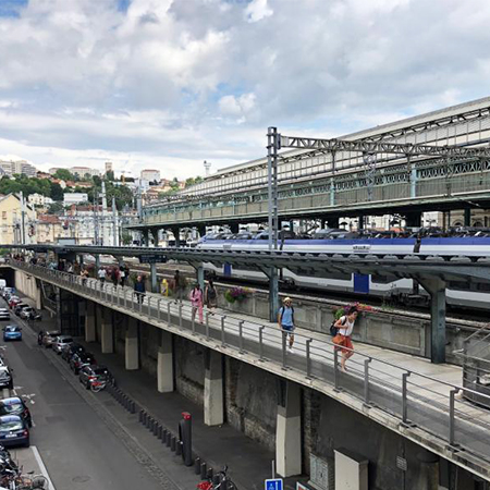ULMA polymer concrete channels for French train station