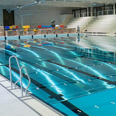 Movable pool floors for Swiss sports complex