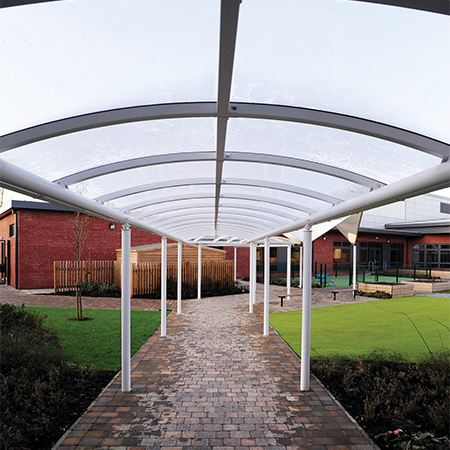 Luton covered walkways shelter students and teachers