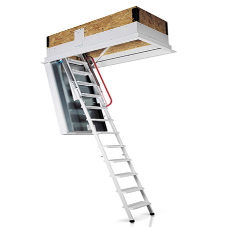 Premier Loft Ladders' Isotec 200 is ideal for fire protection in energy efficient buildings