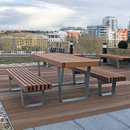 Furnitubes add style to roof terrace of brand-new Colindale offices