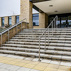 Balustrades create modern look for Alperton Community School