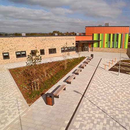 Modern external works package for Green Ridge school