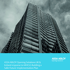 ASSA ABLOY issue response to MHCLG's implementation plan