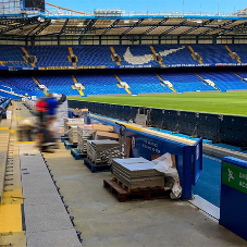 Alfresco Floors provide paving for improved wheelchair access at Chelsea Stadium