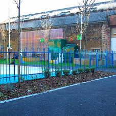 Fencing for Primary School allows children to play with full security