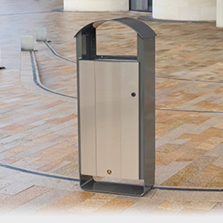 Glasdon launch their stylish Electra™ Curve litter bin