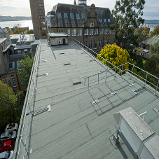 Dundee University benefits from Olivine CO2 neutralising roofing from Alumasc Roofing Systems