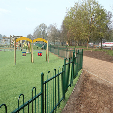 Anti Trap Bow Top fencing safely secures children's play area