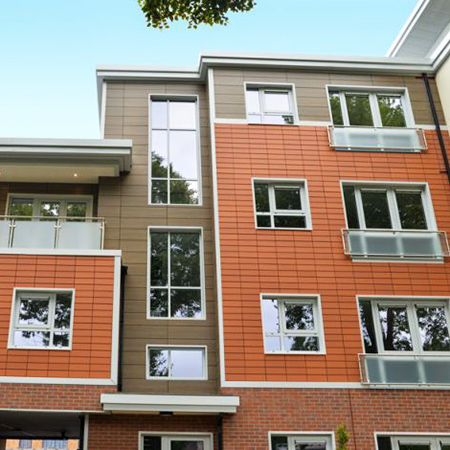 Rainscreen support system for prestigious apartments