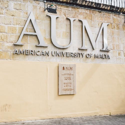 xsign innovative signage for American University of Malta