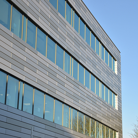 Rainscreen support system for new WorldPay offices