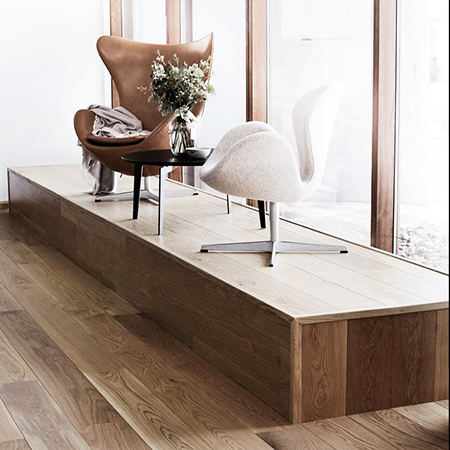 Beautiful Danish floors for Danish design house