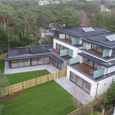 New waterproof roofing system for housing development in Dorset