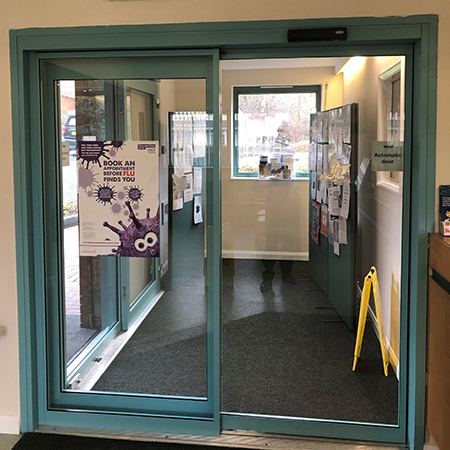 Quick and easy entrance for Haden Vale Medical Practice!