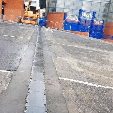 CIVIL F system ensures safety at Ibrox Stadium