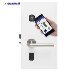 Futuristic bluetooth hotel locks by Grant Haze London
