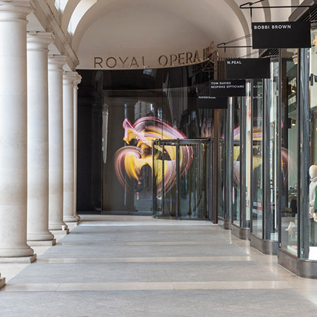 Stunning revolving glass door for Covent Garden Piazza