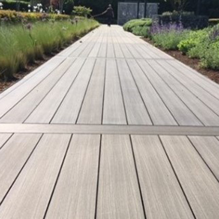 Fresh new IDecking replaces old wooden walkway