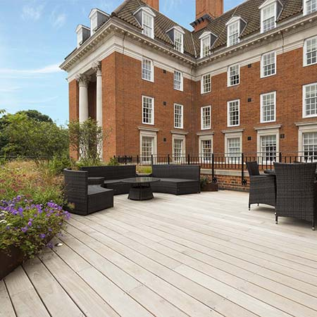 Stunning yellow Balau decking for Royal Star and Garter