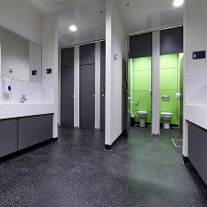 Anti-vandal and anti-bully washrooms for the Inspiration Academy