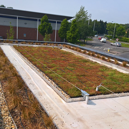 Starbucks drive-thru gets sustainable with a Wallbarn green roof