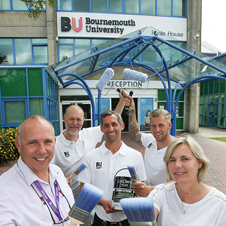 Crown Paints paint a bright future with Bournemouth University