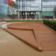 Attractive anti-slip ramp and decking for Media City