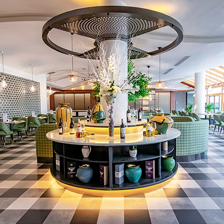 Stunning modern Gingham floor pattern for 4* hotel in Ireland