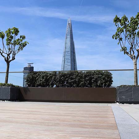 Outdoor Deck Company products for prestigious 5* London development