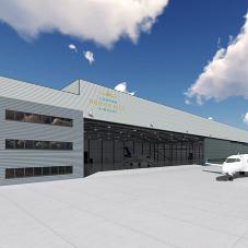 New Parking Hangar at London Biggin Hill Airport