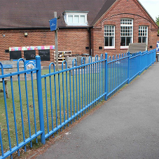 Anti Trap Bow Top fencing Installed for safe playground environment