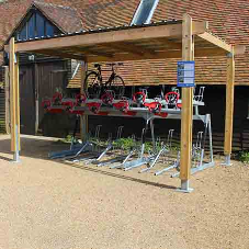 Cyclepods first 100% plastic free cycle shelter