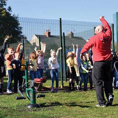 Children's outdoor fitness range for Morton Primary