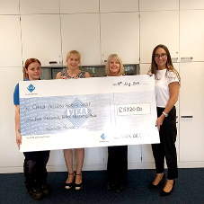 VEKA UK Group presents cheque for £5000 to Child Action North West