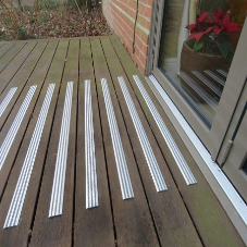 RetroGrip Tread50, the new anti-slip decking strips from GripDeck