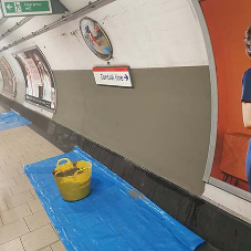 Mapei help upgrade Holland Park Underground