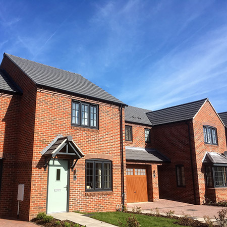 Profile 22 Optima Chamfered Windows used in Telford social housing development