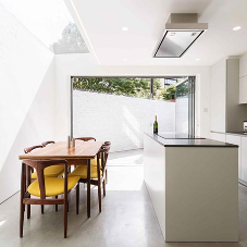 Frameless rooflight creates enviable kitchen in London property