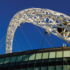 Superb aesthetics and anticorrosive protection for Wembley Stadium