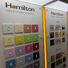 Hamilton are exhibiting at 100% Design