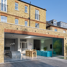 Luxury basement extension near the River Thames kept dry by Newton