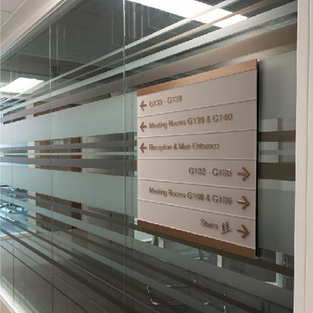 Bespoke wayfinding signs for The University of Birmingham
